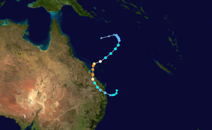 Cyclone Marcia - Image: Marcia 2015 track