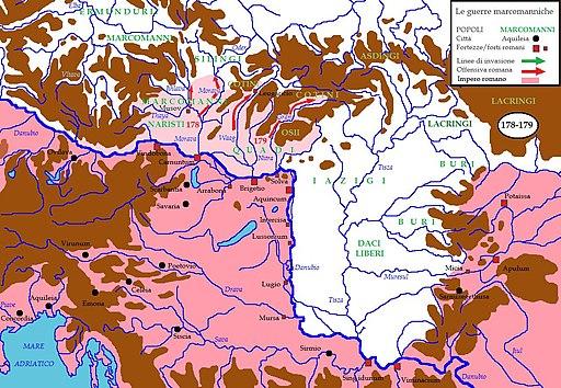 Marcomannia e Sarmatia 178-179 dC
