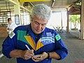 Marcos Pontes, o primeiro astronauta brasileiro dando um autógrafo no Aeroclube de Bauru, local que serviu de fonte de inspiração quando criança para chegar ao céu e depois ao espaço. - panoramio.jpg
