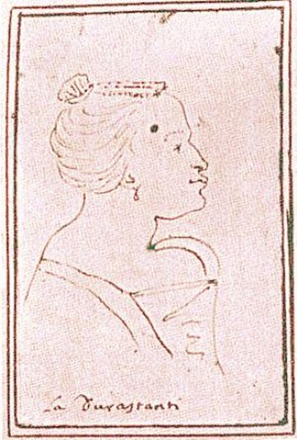 Agrippina (opera) - A caricature of Margherita Durastanti, the original Agrippina, from between 1709 and 1712