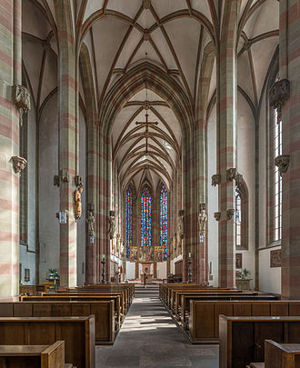 Marienkapelle, Würzburg - View down the nave towards the high altar