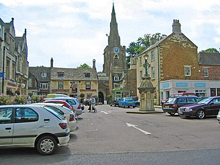 Uppingham market town in the county of Rutland in the East Midlands of England