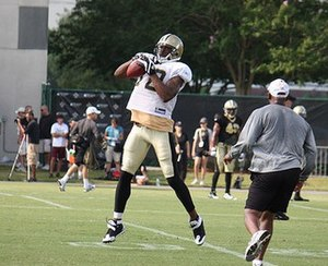 Marques Colston - Colston during training camp in 2009.