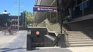 Martin Place railway station entrance, Phillip Street.JPG