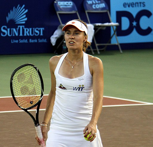 Martina Hingis playing in 2011