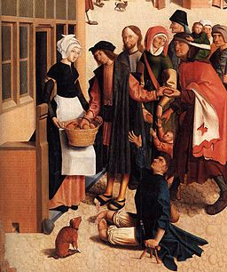 Master of Alkmaar - The Seven Works of Mercy (detail) - WGA14368