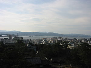 Lake Shinji - View from Matsue Castle