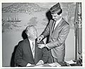 Mayor John F. Collins purchases first V.F.W. poppy from Rudy Sibilio to open 1964 drive to raise funds for hospitalized veterans (12774801803).jpg
