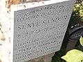 Mayor Sandor Sennye plaque, Ujvaros cemetery, 2016 Szekszard.jpg