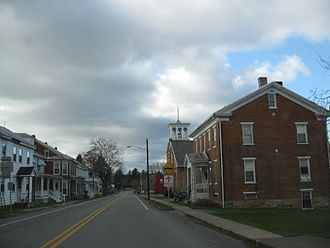 Pennsylvania Route 35 - PA 35 southbound in McAlisterville past PA 235