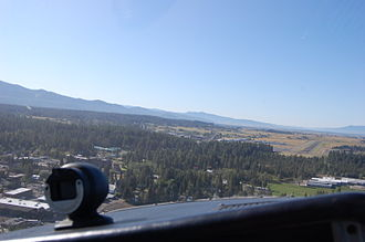 McCall Municipal Airport - Final approach to runway 16 in 2011