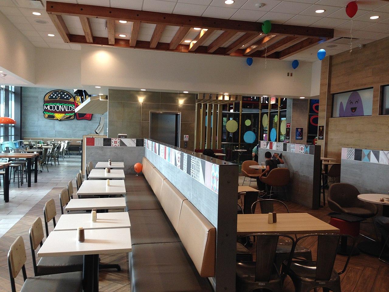 Describe Restaurant Decor : File mcdonald s sand lake rd orlando interior g