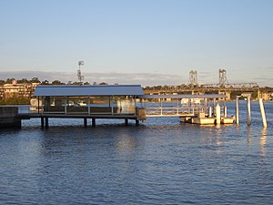 Parramatta River ferry services - Image: Meadowbank wharf