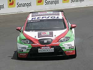 Mehdi Bennani - Bennani driving for Exagon Engineering at the 2009 FIA WTCC Race of Morocco.