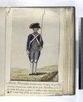 Melicias Provinciales, constan estos Cuerpos de 42 Regimientos, compuestos todos de vn solo Batallon sobre el pie de los Veteranos, y fueron creados en dos ocasiones a saver 28 en el año 1734 y los 14 (NYPL b14896507-87721).tiff