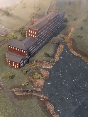 Mellor, Greater Manchester - A model of Mellor Mill and the 'Roman Lakes'