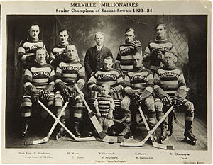 Melville Millionaires - Melville Senior Champions of Saskatchewan, 1923-24.