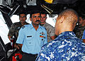 Members of the Indian armed forces tour the bridge of the amphibious assault ship USS Essex.jpg