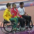 Men's 100m T34 Victory Ceremony (8119922023).jpg