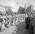 Men of 1st Duke of Wellington's Regiment march into Rome, 8 June 1944.jpg