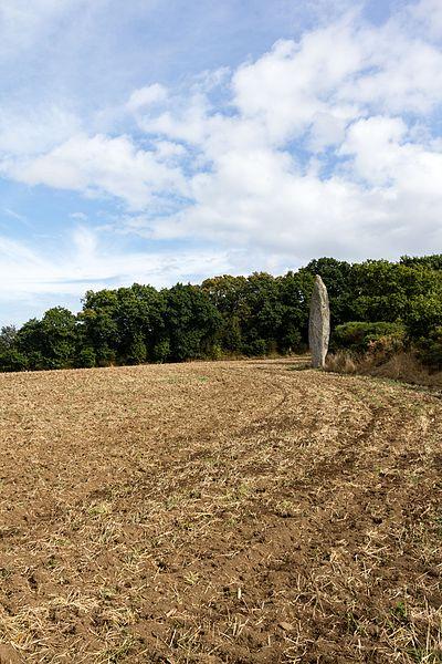 Français:  Menhir de la Roche-Longue à Quintin (France).
