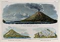 Merapi volcano, Java; three views. Lithographs by W.J. Gordo Wellcome V0025209.jpg