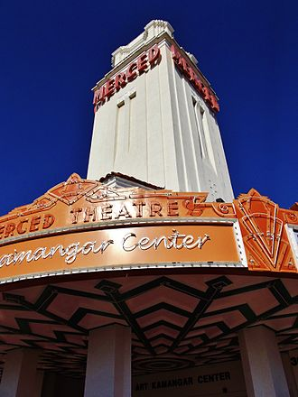Merced Theatre - Image: Merced Theatre tower