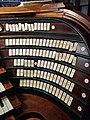 Messina, cattedrale metropolitana - Consolle dell'organo a canne, placchette di destra.jpg