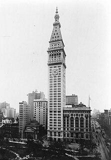 Metropolitan Life Insurance Company Tower Office skyscraper in Manhattan, New York