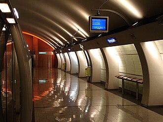 Olympiades (Paris Métro) - Image: Metro Paris Ligne 14 station Olympiades 06