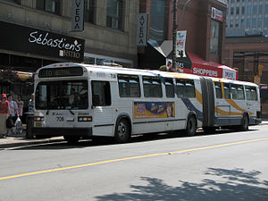 Classic (transit bus) - MCI Classic TC60-102N articulated bus operating for Halifax Transit of Halifax, Nova Scotia