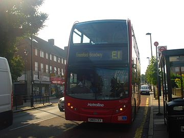 Metroline West TE1727* (SN09 CEX) on Route E1, Hanwell.jpg