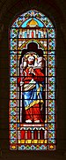 Meursac 17 Eglise vitrail du Bon Pasteur 2014.jpg