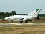 MiG 21 of the Czech Air Force 5603 at Kleine Brogel Air Base, Belgium 2005.JPG
