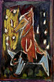 "Michael Hofmann, ""Fox Wedding,"" oil on paper (2005).jpg"