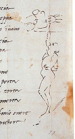 Сонет Микеланджело с карикатурой