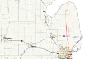 M-53 (Michigan highway) - Image: Michigan 53 map