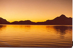 Midnight Sun in Itivdleq fjord.jpg