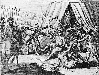 Nicolae Pătrașcu - Michael's killing at Câmpia Turzii, in a 1694 illustration of the events