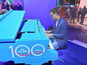 Milo Paulus bij het KLM 100 Years Event in 2020 Amsterdam, Nederland