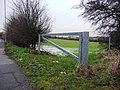 Minimalist gate into field on the B6378 - geograph.org.uk - 1692438.jpg