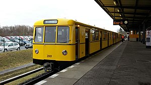 BVG Class D - Modernised Class D on a trial run on the line U5, March 2017