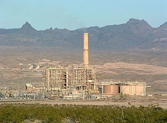 Thermal power station - Mohave Generating Station, a 1,580 MW thermal power station near Laughlin, Nevada, US, fuelled by coal.