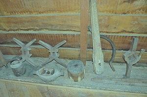 Millrind - Image: Molen Werklust, Oene maalkoppel rijnen centreermal