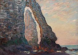 Monet, Claude - L'Aiguille vue à travers la Porte d'Aval (1885-1886) W 1049.jpg