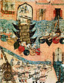 Mongol siege techniques in 1221 were little different than those used for the siege of Baghdad in 1258. A 14th century Persian illustration from the Heinrich von Diez Albums, Staatsbibliothek zu Berlin..jpg