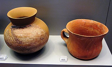 Monochrome bowls from Sesklo. Early Neolithic period (6500-5800 BC). Archaeological Museum Athens.jpg