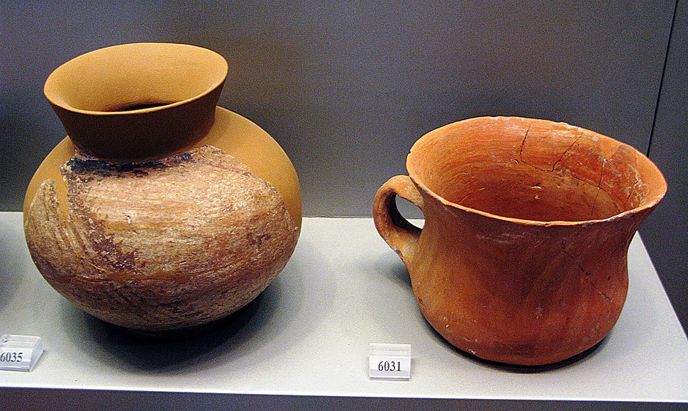 Monochrome bowls from Sesklo. Early Neolithic period (6500-5800 BC). Archaeological Museum Athens