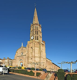 Montech - The church of Our Lady of the Visitation, in Montech