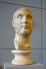 Testa in marmo da una statua di Marco Aurelio Carino, figlio di Caro e avversario di Diocleziano nella battaglia del fiume Margus